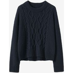 CABLE EASY SWEATER ($225) ❤ liked on Polyvore featuring tops and sweaters