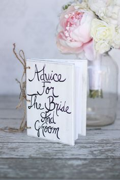 Wedding Guest Book Advice For The Bride And Groom by braggingbags, $40.00