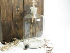 vintage lab glass and jars | Vintage Large Glass Lab Bottle Glass Jar Jug by BridgewoodPlace