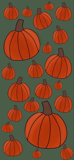 autumn pumpkins iPhone 11 wallpaper