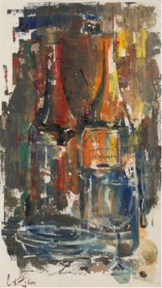 View Abstract Still Life with Wine Bottles and Glass By Christiaan Nice; Access more artwork lots and estimated & realized auction prices on MutualArt. Be Still, Still Life, Farm Gate, Wine Art, Painted Boards, Magazine Art, Art Market, Abstract Art, Auction