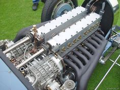 Bugatti 8 cylinder in line with twin cam almost 70 years ago