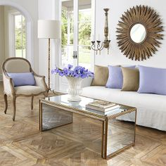Wisteria - Furniture - Coffee Tables - Antiqued Art Deco Coffee Table