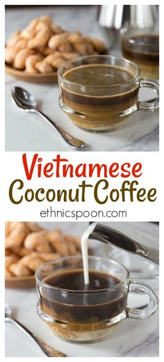 Vietnamese coffee culture is a growing sensation! Vietnamese coconut coffee is a super simple coffee Coffee Mix, Great Coffee, Hot Coffee, Coffee Drinks, Coffee Shops, Swiss Coffee, Coffee Maker, Coffee Blog, Starbucks Coffee