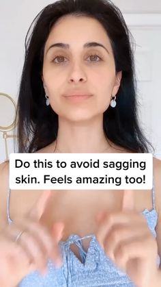 Completely relax your mouth while massaging 🤗 - Face massage anti aging - Beauty Tips For Glowing Skin, Beauty Skin, Natural Beauty Tips, Facial Yoga, Healthy Skin Tips, Face Exercises, Face Massage, Face Skin Care, Tips Belleza