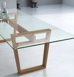 Dining table / contemporary / glass / indoor - MARALBA - CELDA