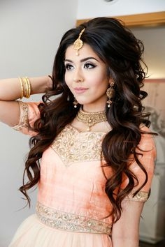 Image result for big hairstyles indian bride