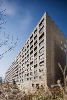Wohnhaus Maaghof, Zürich Balkonbrüstungen und Fensterbänke; Architektur: Diener & Diener Architekten, Basel Basel, Multi Story Building, Architects, Balcony, Homes, House
