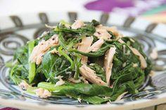 Komatsuna Thunfisch Salat - Komatsuna Tuna Salad