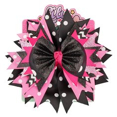Lily Frilly Hair Clips And Pins - Black Cheap Ribbon, Diy Ribbon, Glitter Hair, Glitter Fabric, Fabric Hair Bows, Baby Bows, Baby Headbands, Diy Bow, Hair Barrettes