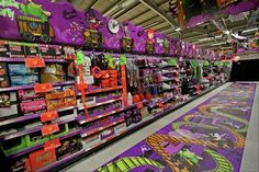 Great Halloween floor graphics from an Asda store