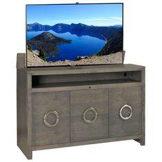 Enclave Grey Pop Up Tv Cabinetcontemporary Interior Designhidden