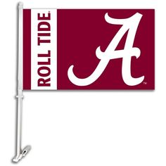 Alabama Crimson Tide Slogan Car Flag Red