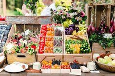 Etalage de Fruits et Légumes I Farmer's Market I ©MG Evénements Ile de Ré