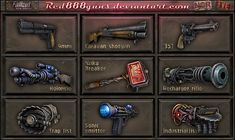 Fallout New Vegas weapons for classic Fallout by on DeviantArt Apocalypse Armor, Apocalypse World, Zombie Apocalypse Survival, Post Apocalypse, Fallout Funny, Fallout 2, Fallout New Vegas, Fallout Vault, Fallout Weapons