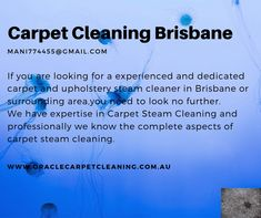 If you are looking for a experienced and dedicated carpet and upholstery steam cleaner in Brisbane. We give you best quality service at price that is sure to delight even the most budget conscious.