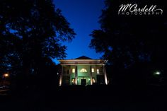 Magnolia Manor at night! Double Staircase, Small Business Solutions, Beautiful Gardens, Magnolia, Gazebo, Wedding Photography, Outdoor Structures, Tours, Night