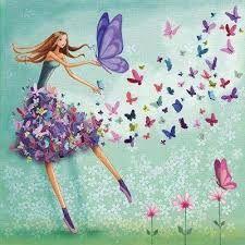 Square card selection by Mila Marquis * 4 piece * Minimum order value 10 Euro * Art And Illustration, Illustrations, Marie Cardouat, Art Papillon, Art Fantaisiste, Art Mignon, Art Carte, Square Card, Butterfly Art