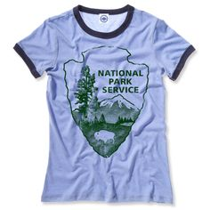 National Park Service Women's Ringer Tee: click to enlarge