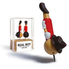 Image of real boy pins (PRE-ORDER) via Swiss Miss