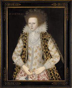 Jacobean beauty, Elizabeth Honeywood age 23 years by William Larkin. dated 1617 Historical Costume, Historical Clothing, Historical Dress, Isabel I, Renaissance Gown, Renaissance Portraits, 17th Century Fashion, 16th Century, Elizabethan Era
