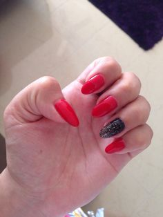 Sexy red with black and gold glitter!