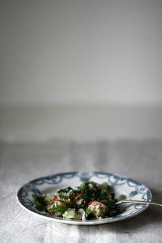 // Broad Bean Salad.