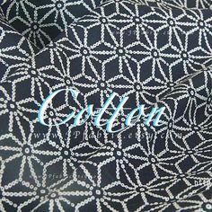 Dark Blue Yukata fabric buy Japanese Cotton Fabric by the yard
