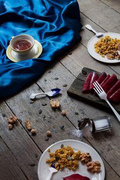 'An Eggless Easter'  © MINT 2015  Styling: Alexandra Mitsiou | Photography: Madame Clique | Design cutlery by Lisanne van Zanten & Renee Boute #foodstyling #foodfotography #vegan #tofu #stilllife #stilleben #art #design #porcelain #cutlery