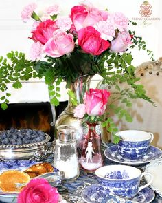 A BLUE & WHITE CHINOISERIE VALENTINE'S DAY TABLE