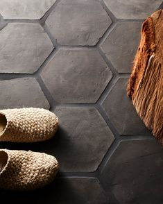 Black Grout, Black Tiles, Hex Tile, Hexagon Tiles, Tiling, Wall Tile, Honeycomb Tile, Layout Design, Design Rustique