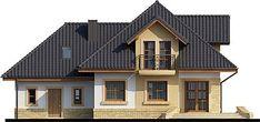 Elewacja tylna projektu Solon Wall Finishes, Good House, House Plans, Villa, House Design, Mansions, House Styles, Case, Exterior
