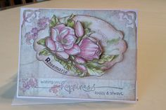 a new card made with Flourishes stamp called Magnolia.