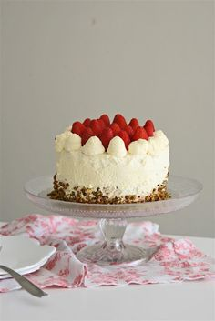 """Japanese Style Strawberry Sponge Cake ... a wonderful recipe from this blog, """"Cakelets and Doilies""""."""