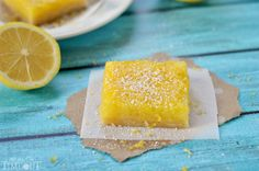 "These no bake Lemon Bars are ""baked"" in the microwave! It cuts the ""baking"" time way down."
