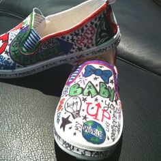 Daughters DIY one direction shoes