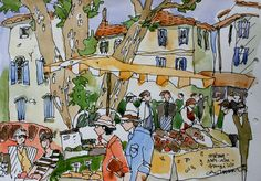 Claude A Simard » SKETCHES Claude, Urban Sketching, Sketchers, Les Oeuvres, Provence, Watercolor, Fine Art, Landscape, Drawings