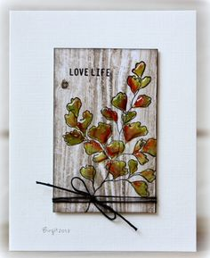 TLC444 Love Life by Biggan - Cards and Paper Crafts at Splitcoaststampers