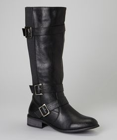 39b7580a840 Intaglia Black Texas Wide-Calf Riding Boot