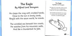 'The Eagle' by Alfred Lord Tennyson Poem Sheet