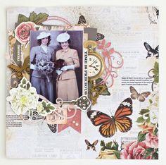 Treasured Moments Layout By Alicia McNamara Vintage Scrapbook, Scrapbook Albums, Scrapbook Cards, Scrapbook Layout Sketches, Scrapbooking Layouts, Heritage Scrapbooking, Paper Crafts, In This Moment, Project Life