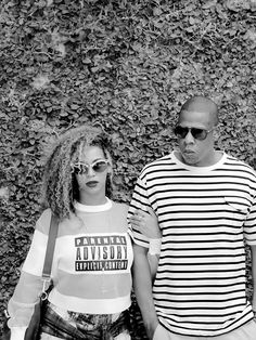 The royal couple of stripes: Jay Z and Beyonce