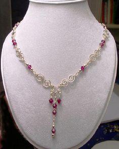 Handmade Jewelry: Gemstone Necklaces: Silver, Wire Wrapped, Semi Precious, Birthstone Beaded jewelry Gifts