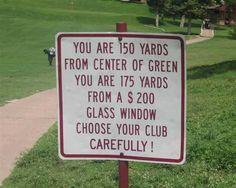 Golf tip..... ;-)