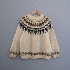 vintage ICELANDIC wool sweater by secretlake on Etsy