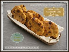 Sweet Potato Chocolate Chip Cookies #justeatrealfood #purefreshdaily