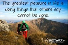 Only you truly know what you are capable of achieving. www.START.ac #crowdfunding