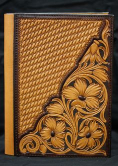Leather Carving, Leather Art, Leather Books, Custom Leather, Tooled Leather, Handmade Leather, Leather Bible Cover, Leather Book Covers, Leather Tooling Patterns