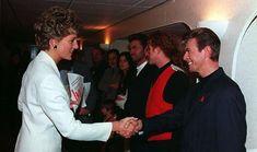With Lady Diana