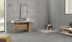 Cornerstone by Ergon #tiles #emilgroup #floor #rockface #bathroom #design